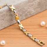 Nieuwe Manier Dame Bracelet met de Goud Geplateerde Elementen van de Energie van de Gezondheid