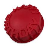 La FDA délivrent un certificat le moulage matériel de gâteau de silicones de catégorie comestible, moulage formé de gâteau de silicones de joyeux anniversaire