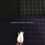 Cheque la cara de la tela de la lana sola para el hombre