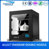 Inker200d 0.1mm Precision Double Nozzle Desktop Machine Fdm 3D Printing