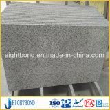 Panneau en aluminium de marbre en pierre noir de nid d'abeilles pour le matériau de construction