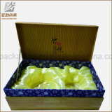 Caja de té vacía de cartón de papel al por mayor de encargo, té chino populares caja de regalo