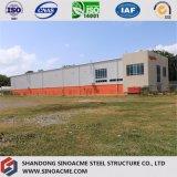 Taller de acero profesional del edificio del marco de puerta con la oficina
