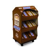 Visualización de suelo de la cartulina de la rueda para los alimentos del chocolate