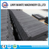 Tipo clássico telha de telhado de alumínio revestida do metal da pedra