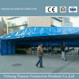 Crystal Clear lona de PVC de poliéster impermeable de lona Tela Texile