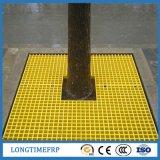 노란 색깔 나무 가드 지면 FRP 격자판