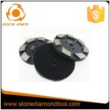 de Haak van 100mm & Oppoetsende Stootkussen van het Metaal van het Segment van de Diamant van de Lijn het Marmeren
