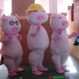 Traje de la mascota del personaje de dibujos animados del cerdo de Mcdull