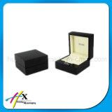Singolo contenitore di vigilanza di legno nero di lusso con il marchio acrilico del piatto