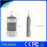 Freies kundenspezifisches Firmenzeichen 3 in 1 OTG USB-Blitz-Laufwerk 32GB für iPhone