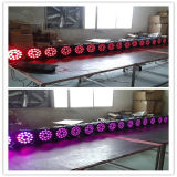 Iluminación de aluminio de interior de la Navidad de la IGUALDAD 18PCS LED de Rgbawuv