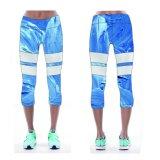 Anti pantaloni batterici di Capris di usura di yoga dei vestiti di forma fisica delle signore