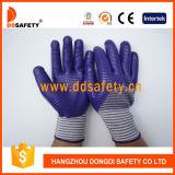 13 перчатки Dnn543 нитрила 3/4 вкладыша зебры датчика пурпуровых смешанных белых Nylon пурпуровых покрывая