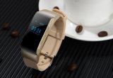 Promotie Bluetooth 4.0 de Slimme Armband van het Horloge met Pedometer, Verre Camera, het Branden van de Calorie en Oortelefoon