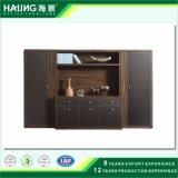 Combinación de madera elegante con el cabinete de archivo vertical de la oficina de los cajones