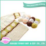 Camisola Hand Knitted de lã da combinação de cor do bebê do algodão