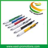 1つのツールの組合せの金属のペンのタッチ画面スタイラススクリュードライバーの水準器の定規6が付いている創造的な多機能のボールペン