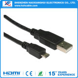 Cabo do USB do micro do preto 3FT de Shenzhen com Am ao micro USB