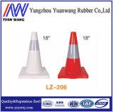 Cone profissional da base do preto da segurança de estrada do tráfego do fabricante com altura 470mm