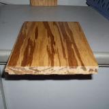 Plancher en bambou tissé par brin carbonisé par cliquetis