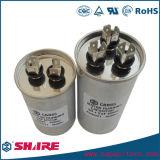 Capacitor de funcionamento duplo do motor de C.A. do capacitor da C.A. PMP (produção máxima possível) 450VAC Cbb65 da melhor qualidade