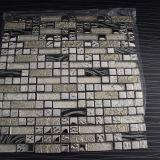 Горячее золото сбывания и белая плитка мозаики кристаллический стекла