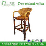 Rota natural que teje la alta silla Barstool de la barra de pie