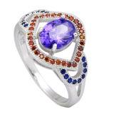 Новые типы CZ звенят 925 серебряных кец диаманта