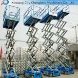 Levage hydraulique mobile électrique de ciseaux et plate-forme de travail aérien