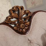 Tela antiga Couch clássico Amor Cadeira Assento Clássico Sofa Set com moldura de madeira para sala