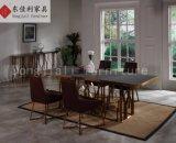 Самомоднейшие стеклянные обедая стулы таблицы и обедать