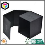 Rectángulo de regalo de empaquetado de papel de la vela negra cuadrada de lujo del color
