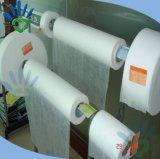 Materia prima de la tela de los PP de tejido del pañal mojado no tejido del papel
