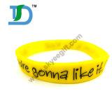 Wristband del silicone dell'OEM della stampa, fascia di manopola del silicone, fascia del silicone