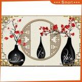 Las flores en la pintura china impresa inyección de tinta de los floreros para la decoración casera