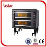 Elektrischer Handelscomputer-Panel-Pizza-Brot-Kuchen-Ofen für Gaststätte-Bäckerei-System für Verkauf, zwei Tellersegmente der Plattform-vier
