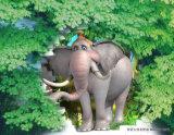 الفيل يمشي في الغابة تصميم [أوف] لوح لأنّ زخرفة بينيّة