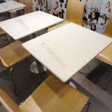 Tabella di pietra artificiale del quadrato del ristorante della resina con il marchio