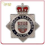 Het gouden Kenteken van de Politie van het Metaal van de Douane met Echt Leer