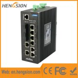 Conmutador de alta velocidad 10 puertos de red Ethernet óptica industrial