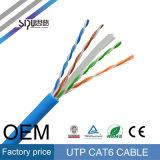 Precio del cable CAT6 del cable UTP de la red de Sipu 24AWG UTP CAT6