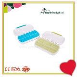 Cadre de pillule de conteneur de pillule de compartiment du plastique 6 de cas de médecine