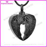 La piuma Pendant dell'urna del cuore traversa la collana volando di cremazione per il supporto del Keepsake delle ceneri (IJD9764)