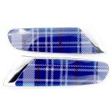 Cubierta azul protegida ULTRAVIOLETA material de la lámpara de la cara del reemplazo del estilo de Speedwell del cromo del ABS a estrenar para Mini Cooper F56 (2PCS/Set)
