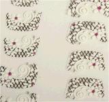 3D 레이스 꽃 디자인 물 이동 못 예술 스티커 못 스티커