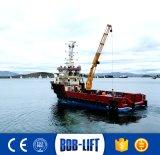 Bob-Levantar o guindaste hidráulico do fuzileiro naval do braço da junta de 10 toneladas