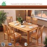 Madera de madera resistente sillas de madera moderna de mesa de comedor