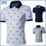 En gros dans la chemise de polo brodée par coton d'hommes d'été