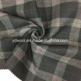 Ткань шерстей проверки стороны замши двойная